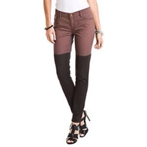 BCBG Brown & Black Color Block Jeans, Size 28